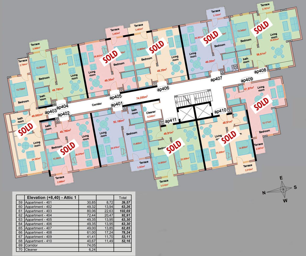Floor plan - floor 4
