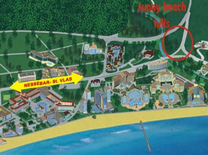 location in Sunny Beach
