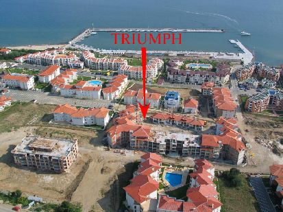 Location of Triumph Holiday Village