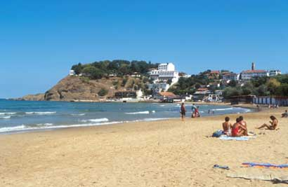 Nessebar beach strip