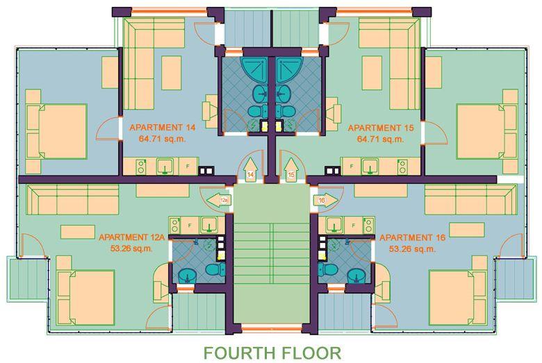 Floor plan - 4th floor