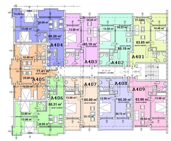 Floor plan - fourth floor